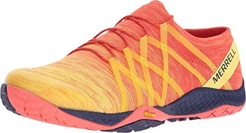 - Merrell Women's Trail Glove 4 Knit Hot Coral 8 M US