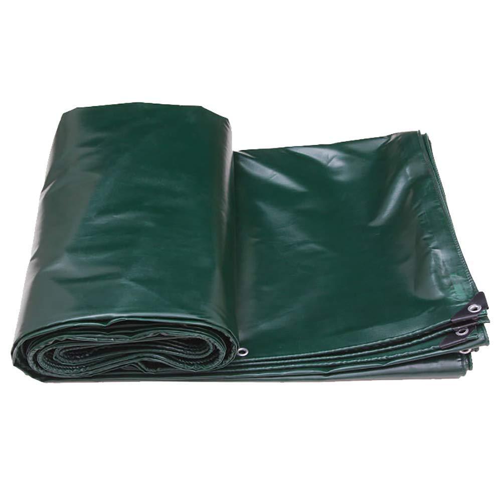 Waterproof Cloth Home Außenzelt Wasserdichte Plane Sonnencreme schwere Plane Zelt im Freien aus Segeltuch (Farbe   Dark Grün, Größe   7×5m)