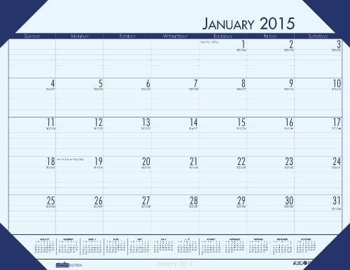 House of Doolittle 124640 EcoTones Ocean Blue Monthly Desk Pad Calendar, 18-1/2 x 13, 2016 (Calendar Pad Ecotones Desk Monthly)