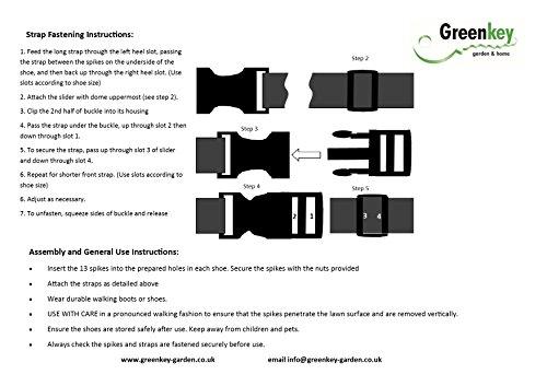 Greenkey, Sottoscarpe con chiodi, per arieggiare il prato 5 spesavip