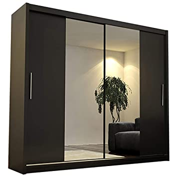 Ye Perfect Choice Modern Bedroom Mirror Sliding Doors Wardrobe
