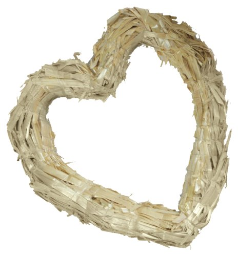 FloraCraft Heart Straw Wreath Form 12 Inch Natural