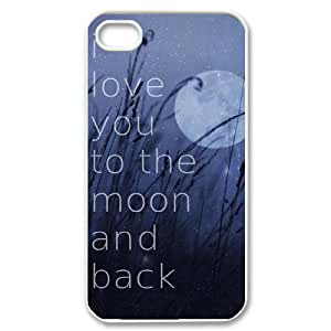 I love you to the moon and back Unique Design Case for Iphone 4,4S, New Fashion I love you to the moon and back Case