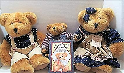 Amazon.com: Russ Berrie, Boyds Three Teddy Bears Family ...