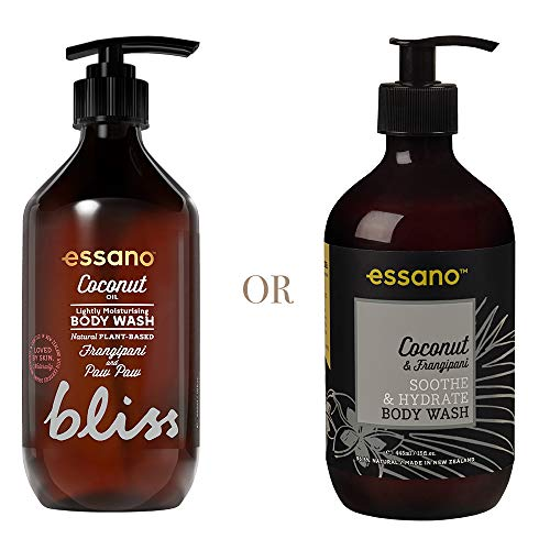 Essano Coconut & Frangipani Soothe & Hydrate Body Wash, 445ml (15oz)