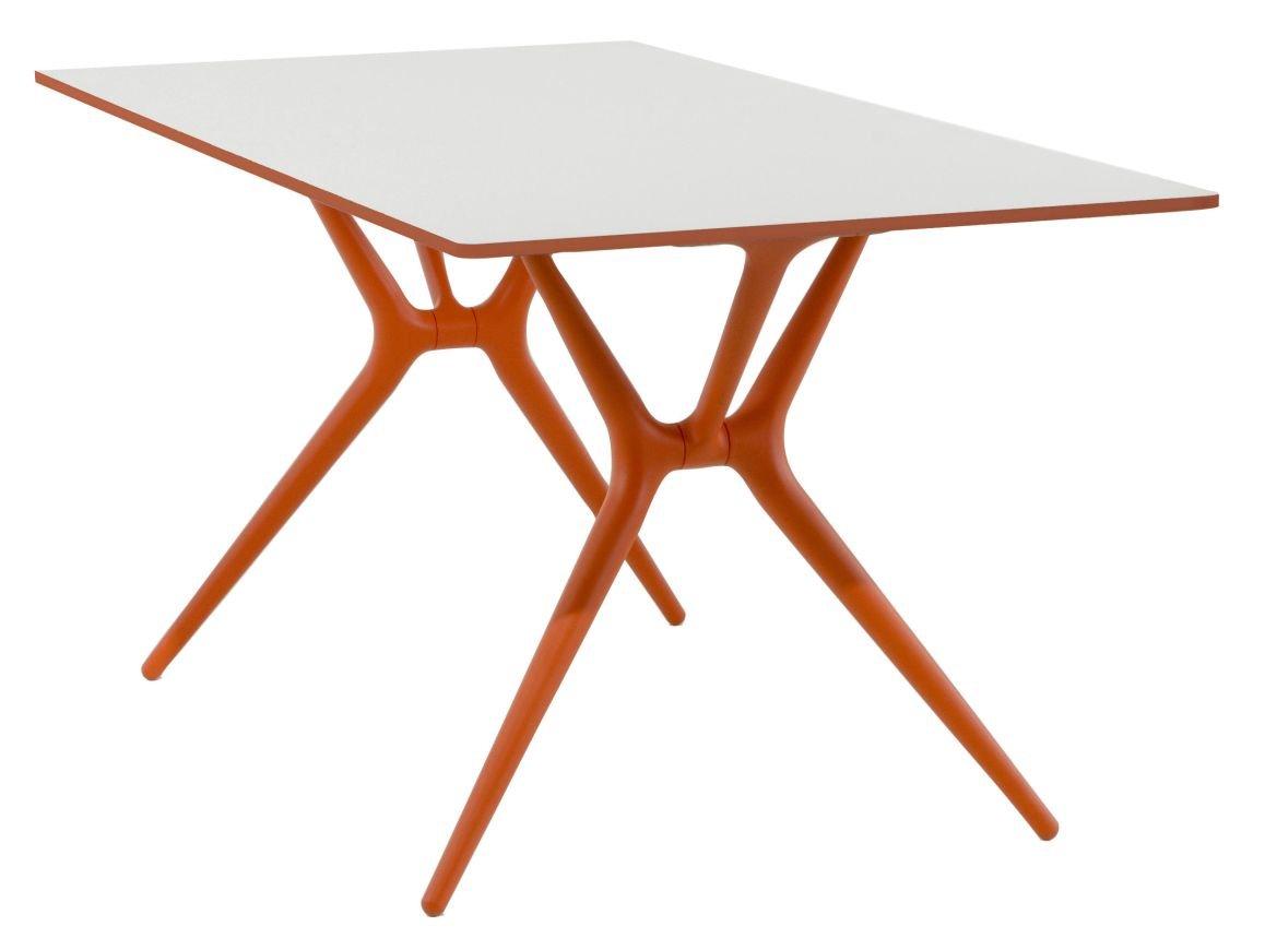 Kartell 4506/02 Spoon Table Tavolo, Arancione/Bianco 4506-02