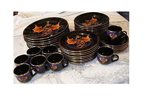 Vintage Very Rare New FRANKLIN MINT DRAGON DYNASTY FINE CHINA DINNERWARE COLLECTION SET (Franklin Rare Mint)