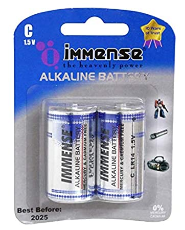 Immense C Lr14 1 5v Alkaline Battery 6 Pieces Amazon In Electronics