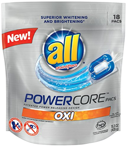 Price comparison product image all Powercore Pacs Laundry Detergent with OXI,  Pouch,  18 Count