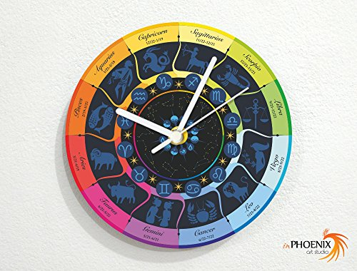 Zodiac Sphere Map - Solar System - Novelty Gift - Custom Name Wall Clock by inPhoenix
