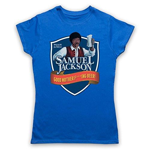 Samuel Jackson Good Motherf'ing Beer Chappelle Show Parody Camiseta para Mujer Azul Real
