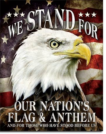 The Finest Website Inc. New We Stand For Our Nation's Flag & Anthem 16
