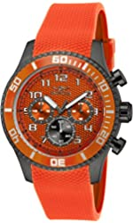 Invicta Mens Specialty Japanese Quartz Chronograph Orange Polyurethane Strap Watch