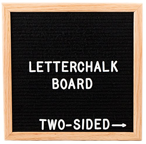 Reversible Chalkboard Sided Double (Square LetterChalk - A Reversible Letter Board Chalkboard Sign - Felt Boards With Letters)