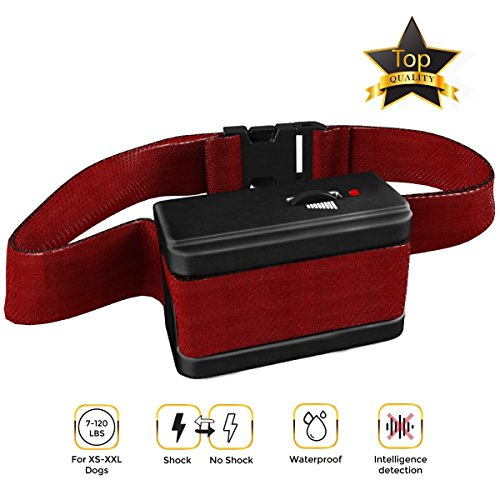 [NEW 2018 VERSION] Bark Collar with UPGRADED Smart Chip - Best Intelligent Dog Shock, Beep Anti-Barking Collar. No Bark Control for Medium/Large Dogs over 10 LBS - Stop Barking (Dog Shock Collar)
