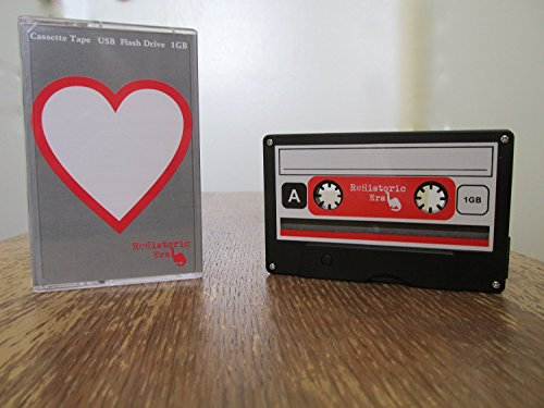 Cassette Tape USB Stick Flash Drive, 1 GB, 2.0 USB--Heart Design, Data Storage, Flash Drive, Jump Drive, Computer