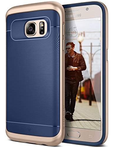 Galaxy S7 Case, Caseology [Wavelength Series] Slim Dual Layer Protective Textured Grip Corner Cushion Design [Navy Blue] for Samsung Galaxy S7 (2016)