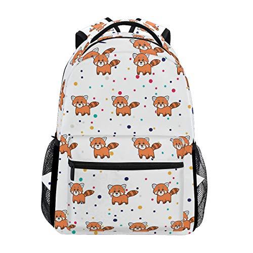 Stylish Cat Bear Red Panda Backpack- Lightweight School College Travel Bags, ChunBB 16
