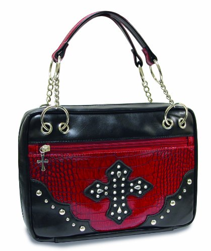 Divinity Boutique Bible Cover Black with Red Croc, Extra Large (22466) from Divinity Boutique