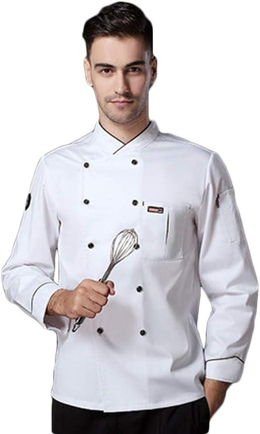 WYCDA Uniforme de Cocina Restautante Chaqueta de Chef Camiseta de ...