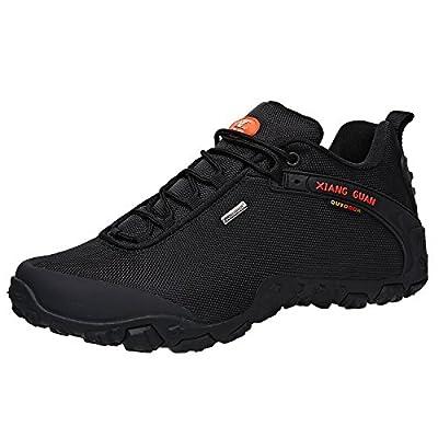 XIANG GUAN Men's Outdoor Low-Top Oxford Water Resistant Trekking Hiking Shoes