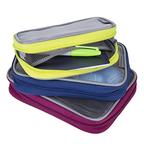 Travelon Lightweight 3-Piece Packing Squares, Bolds, One Size