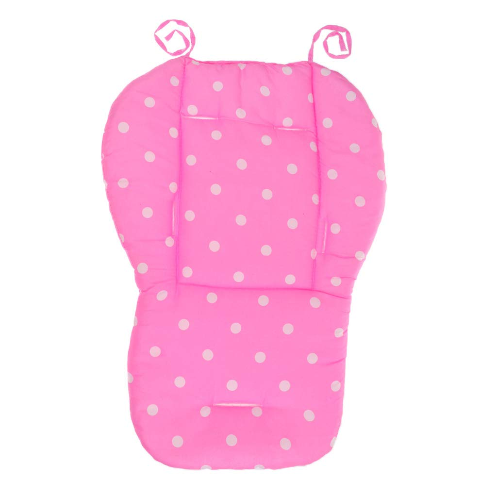 Prettyia Baby Stroller/Car/High Chair Seat Cushion Liner Mat Pad Cover Protector Cotton - Green Dot, as described