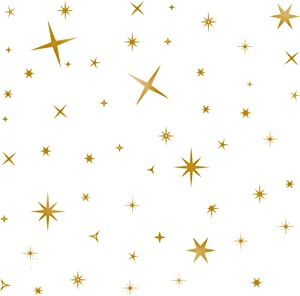 TOARTi DCTOP Sparkle Star Wall Decal Gold Stars Wall Stickers Removable Vinyl Wall Stickers for Kids Rooms Decor Gold Wall Decal for Stars Home Decoration,Gold