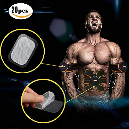 XJunion abs Abdominal Muscle Trainer Muscle Abdominal Abdomen Trainer Replace Gel Sheet to Stimulate Gel pad Accessories