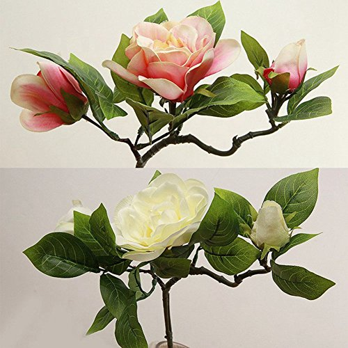 JAROWN-Artificial-Gardenia-Silk-Flowers-Camellia-Bouquets-Arrangements-for-Wedding-Home-DecorationPack-of-3Milk-white