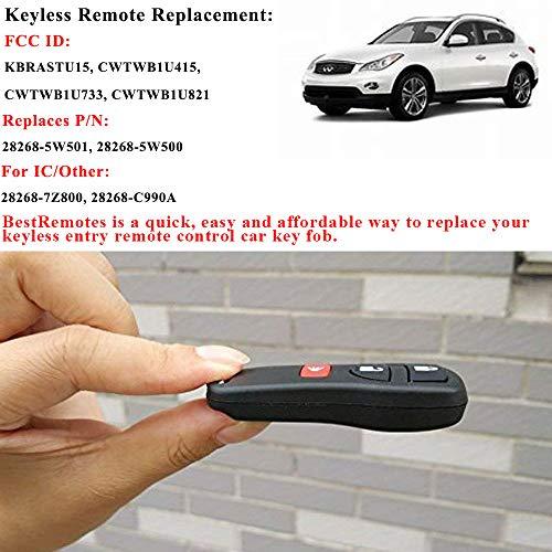 Key Fob, Compatible for Nissan Murano Sentra Titan Key Fob