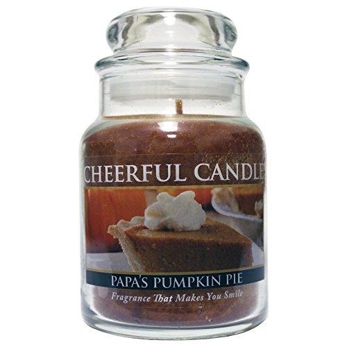 (A Cheerful Giver A 6oz Papa's Pumpkin Pie Cheerful Jar Candle, Brown)