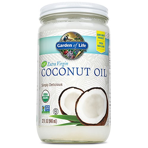 (Garden of Life Organic Unrefined Extra Virgin Coconut Oil - Healthy Vegan Cooking Oil, 32oz Liquid)