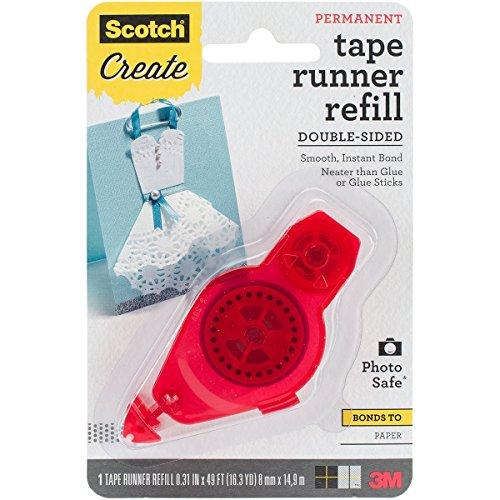 Scotch Tape Runner Refill, .31 in x 16.3 yd (055-R-CFT) 3m Scotch Tape Runner Refill