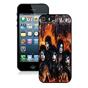 Newest iPhone 5 5S Screen Case ,Unique And Fashionable Designed Case With Black Veil Brides Black iPhone 5 5S Phone Case