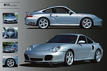Carteles du Monde – enorme laminada/encapsulada Porsche 911 Turbo Póster Medidas aprox. 36