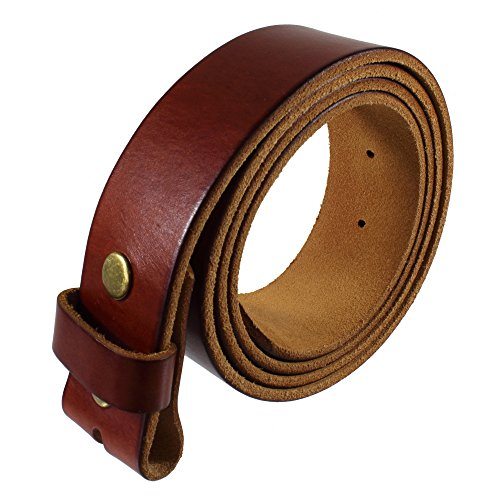 Gelante Genuine Full Grain Leather Belt Strap without Belt Buckle G2016-TAN-XL