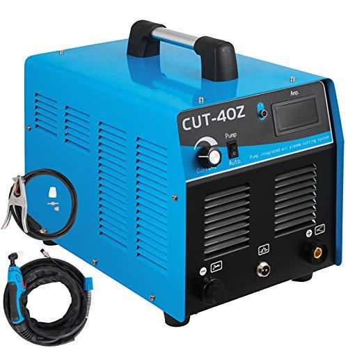Mophorn 40 Amp Plasma Cutter with Built-In Air Compressor 220V Portable Plasma Welder Plasma Cutting Machine IGBT Inverter Digital Plasma Welding Machine(40 Amp with Air Compressor) (Air Compressor For Plasma Cutter)