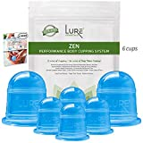 Cupping Therapy Set - Original Ergonomic and Pliable Silicone Cups for Full Body Massage, Cellulite, Stretchmarks - Best Gift and Quality (Set of 6 - Blue) review
