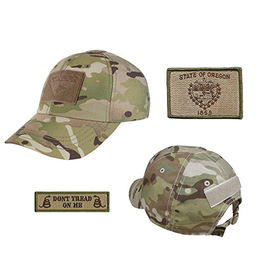US State Operator Cap Bundle - With State & Dont Tread On Me Patches - Oregon