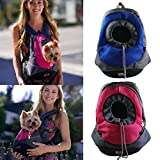 AerWo Dog Cat Pet Carrier Portable Outdoor Travel Backpack, (Deep Blue ,S)
