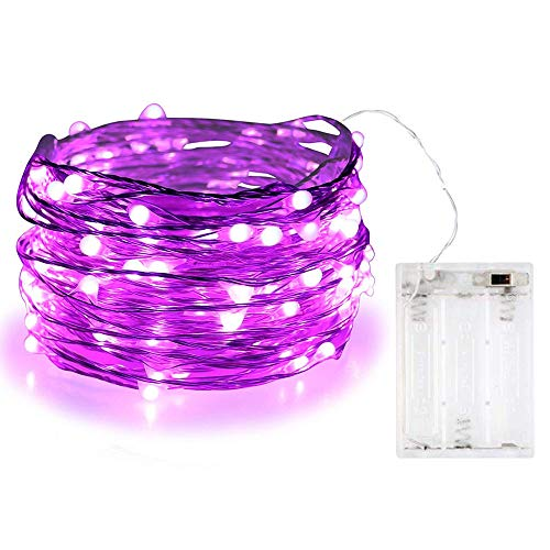 BOLWEO 10ft/3M 30LEDs Battery Powered Christmas Fairy String Lights, Purple Fairy String Lights for Home Bedroom Indoor Outdoor Christmas Tree Party Decoration - Purple (Christmas Wreath Purple)