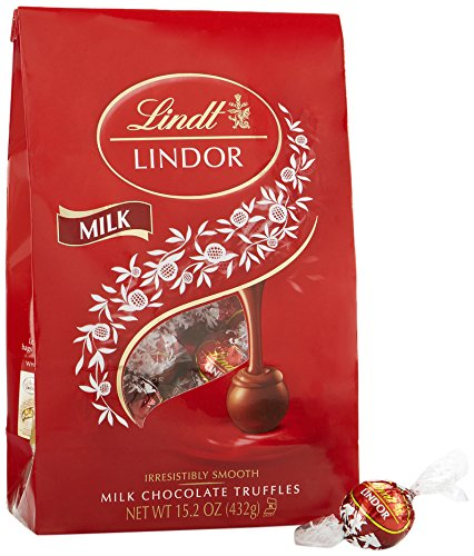 Lindt LINDOR Milk Chocolate Truffles, Kosher, 15.2 Ounce Bag -