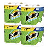 Bounty Quick-Size Paper Towels, White, 8 Family Rolls = 20 Regular Rolls: more info