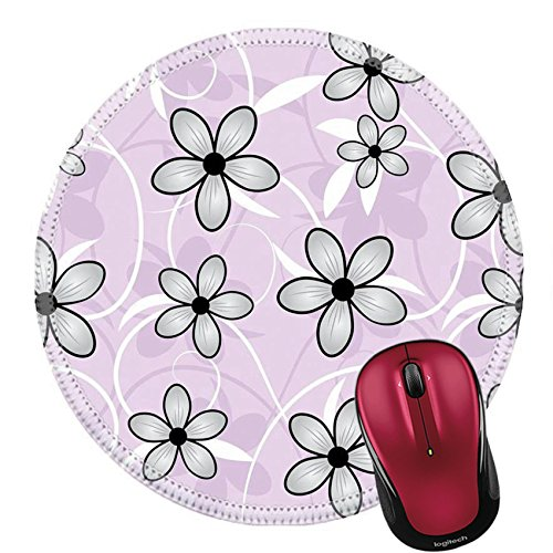 Liili Round Mouse Pad Natural Rubber Mousepad IMAGE ID: 13324117 Vector seamless flower background pattern floral vintage illustration Cute backdrop