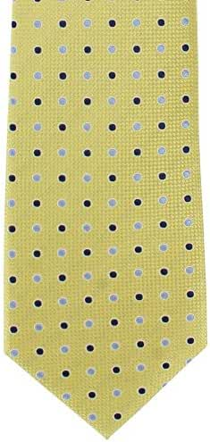 Yellow Two Tone Colour Spot Silk Tie by Michelsons of London