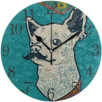 ISAOA Reloj de Pared Moderno de 9.4 Pulgadas, Tumblr Dog Silent ...