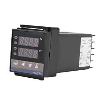 0℃~1300℃ Alarm REX-C100 Digital LED PID Temperature Controller Thermostat Kit Suitable for Electric Power Chemical Industry Injection Molding Food Temperature Controller AC 110V 240V
