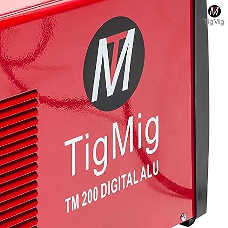 Soldador Inverter Tig TM200 Digital Alu, CA-CC, 200 A, 60% de ciclo de trabajo para la soldadura de todos los metales, especial para aluminio