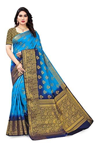 SERONA FABRICS Women's Banarasi Silk Saree With Blouse Piece